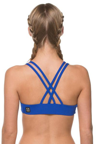 Fendrick Fixed-Back Top - Blueberry