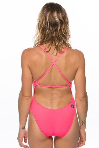 Brandon Fixed-Back Onesie - Hot Pink