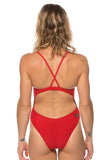 Heath Fixed Back Onesie - Red