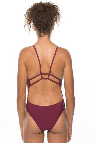 Rhys Fixed-Back Onesie - Cabernet