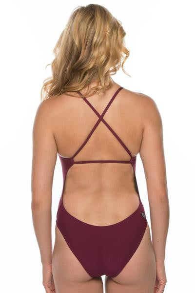 Scotty Fixed-Back Onesie - Cabernet