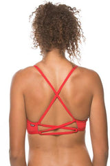 JOLYN AUSTRALIA SWIMWEAR || Xavier Bikini Swim Top - RED