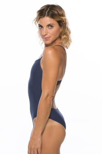 Kevin Fixed-Back Onesie - Navy