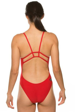 Rhys Fixed-Back Onesie - Red
