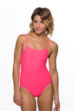 Kevin Fixed Back Onesie - Hot Pink