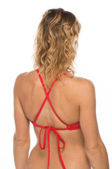 JOLYN AUSTRALIA SWIMWEAR || Ryan Bikini Swim Top - RED