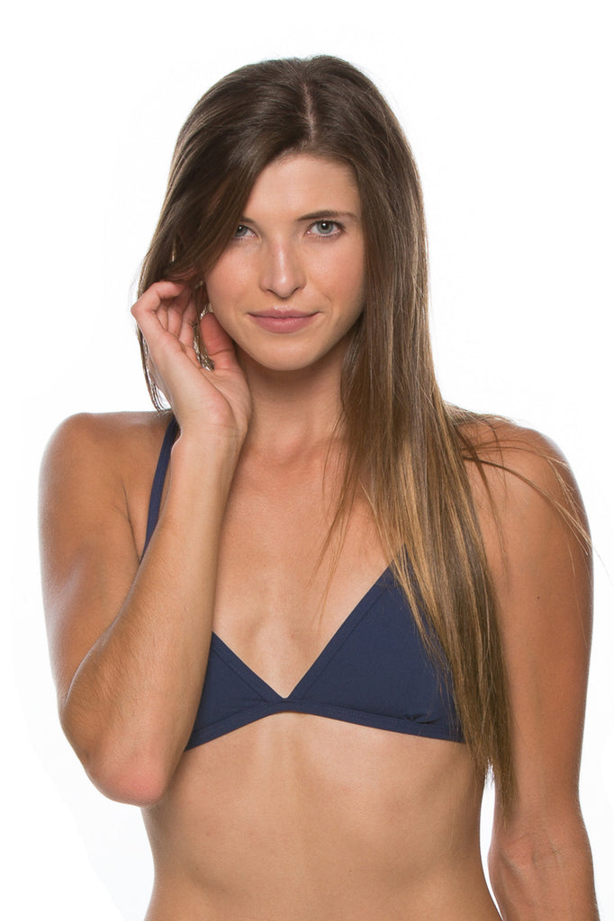 Triangle Bikini Top Navy Mix & Match