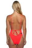 Steve Beach Lounger Onesie - Strawberry