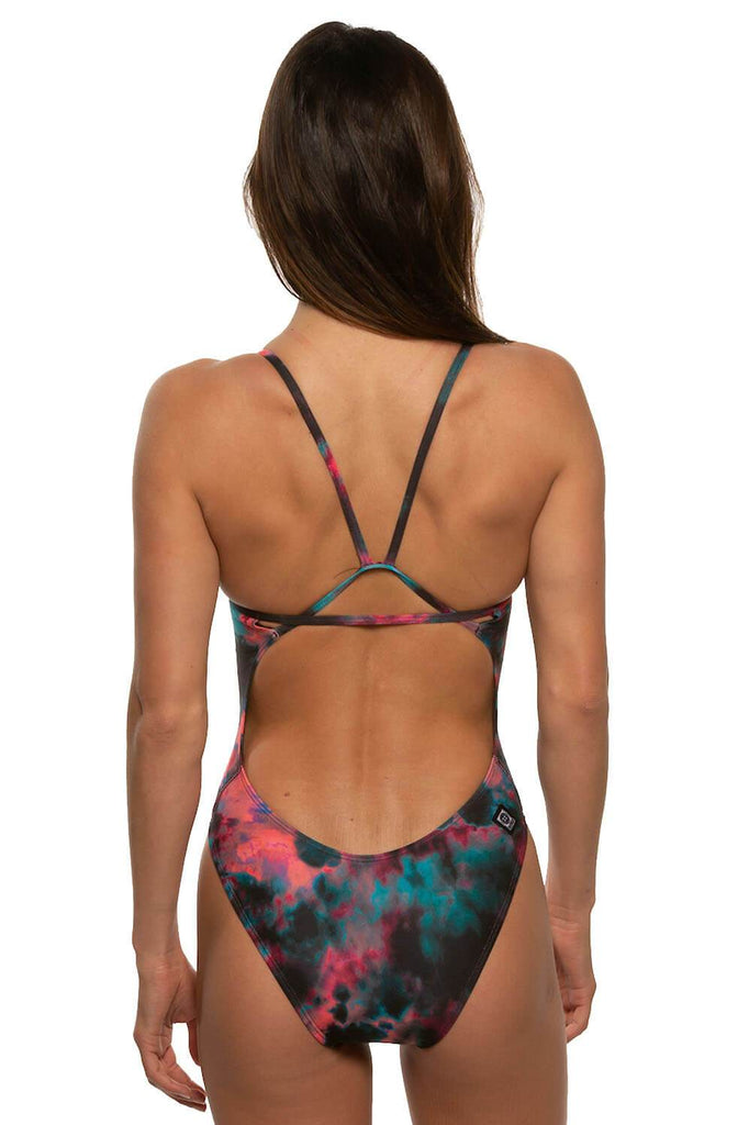 Printed Perry Fixed-Back Onesie - Omega