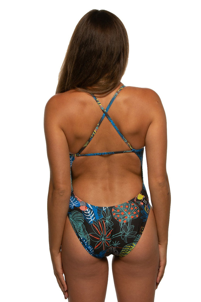 Printed Brandon Fixed-Back Onesie - Ecuador