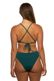 Zoe High-Waist Bottom - Peacock