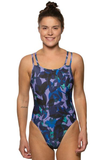 Printed Murray Fixed Back Onesie - Viola