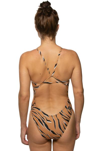 Printed Perry Fixed-Back Onesie - Bengal