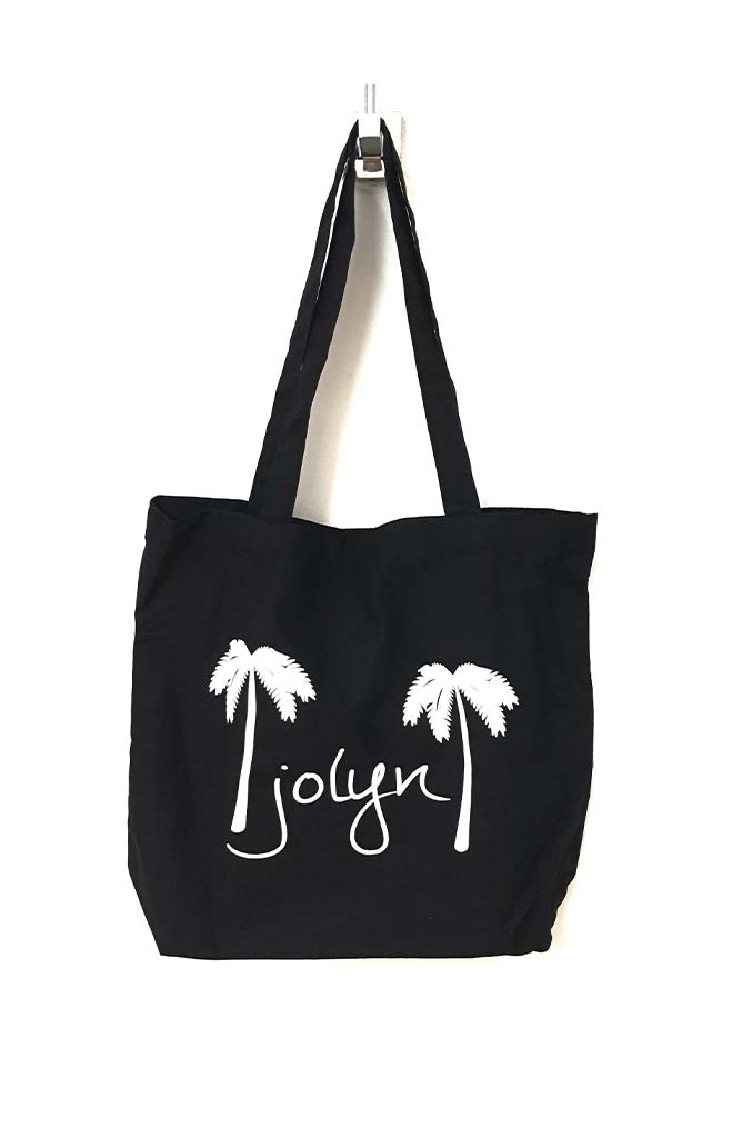 Canvas Tote Bag - Black Palm