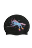 Swim Cap - Unicorn Black