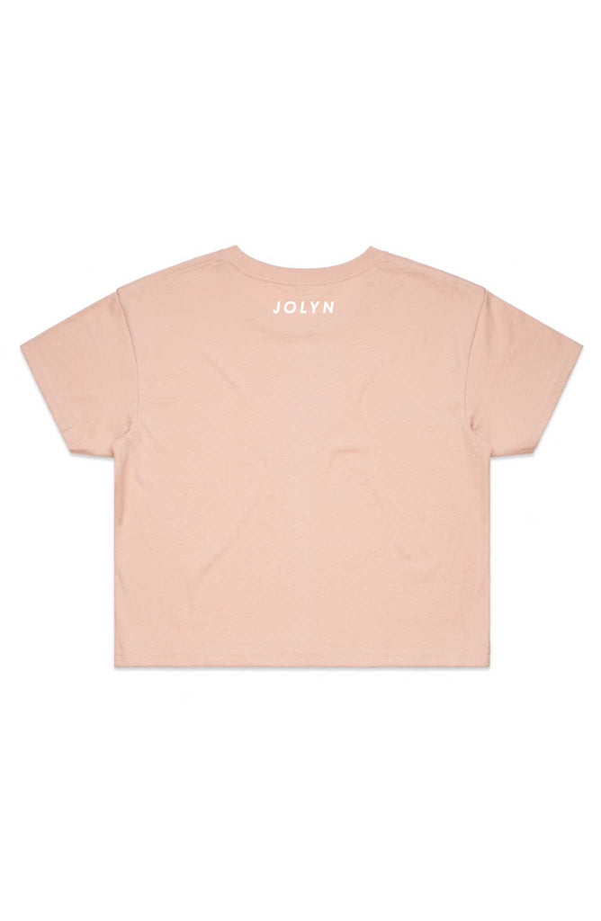 JOLYN Cropped Rep Tee - Powder Pink