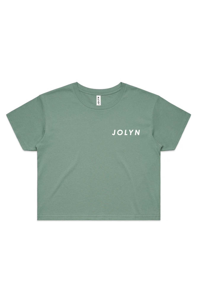 JOLYN Cropped Rep Tee - Sage
