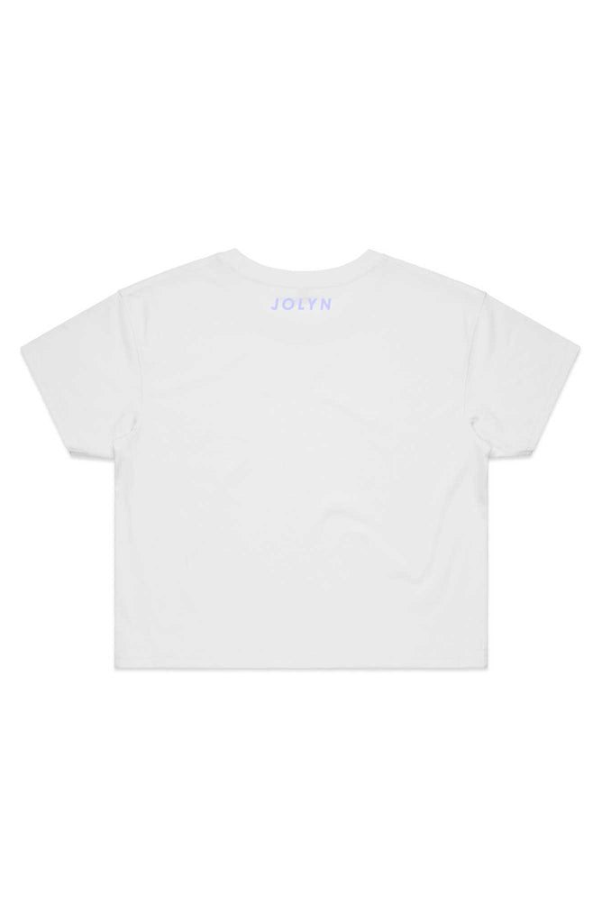 JOLYN Cropped Rep Tee - White