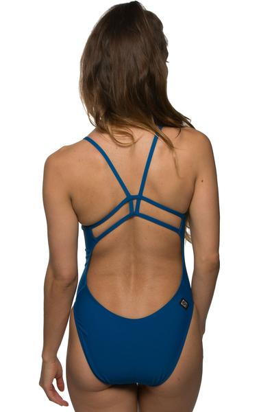 Drew Fixed-Back Onesie - Deep Blue Sea