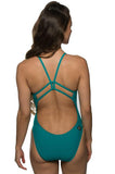 Drew Fixed-Back Onesie - Ocean