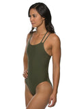 Murray Fixed Back Onesie - Army