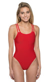 Murray Fixed Back Onesie - Red