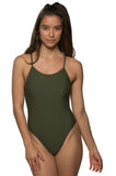 Drew Fixed-Back Onesie - Army
