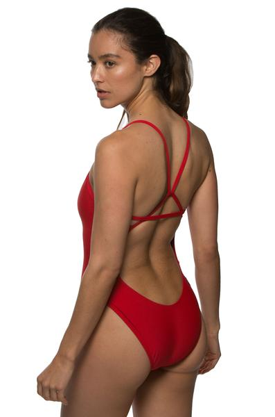 Perry Fixed-Back Onesie - Red