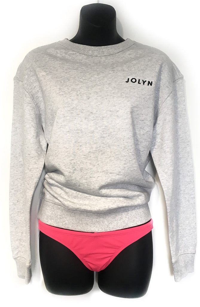 JOLYN Sweatshirt - White Grey Marle