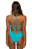 Dayno Tie-Back Onesie - Hawaii Blue