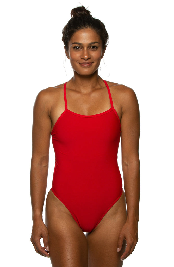 Dayno Tie-Back Onesie - Red
