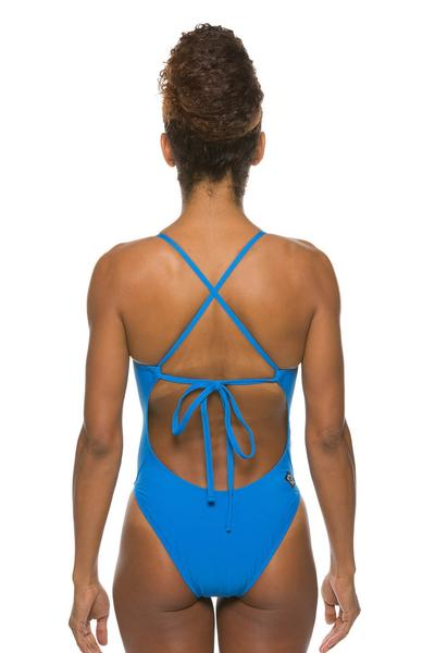 Dayno Tie-Back Onesie - Water Blue