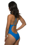 Scotty Fixed-Back Onesie - Water Blue