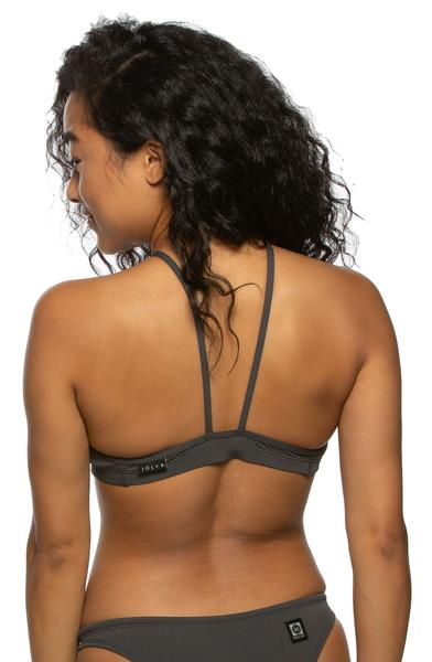 Isela Fixed Back Top - Asphalt