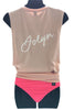 JOLYN Muscle Tank - Powder Pink/White