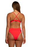 Zoe High-Waist Bottom - Strawberry