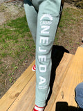 Sweatpants - Womens Angel Fleece - (Light Green/Gray - Adult)