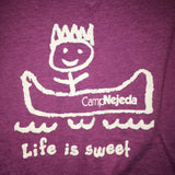 T-Shirt -V-neck - Life is sweet  (Adult)
