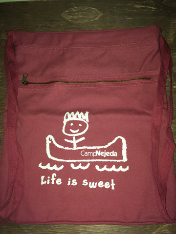 Canvas - Cinch Sacks - Life Is Sweet - Red