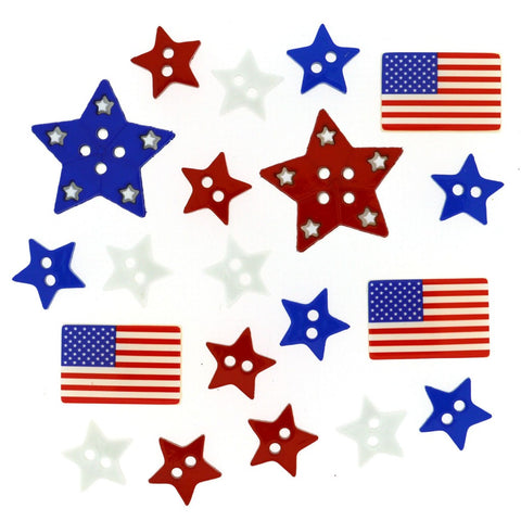 Button #1105 - Patriotic Shapes