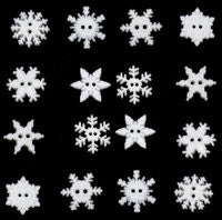 Button #2892 - Sew-Thru Snowflakes