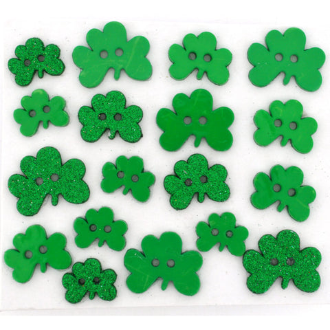 Button #3502 - Shamrocks