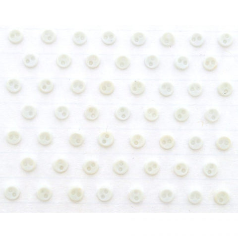 Button #4707 - Micro Mini Round White