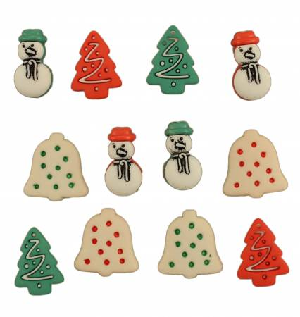 Button #4728 - Christmas Cookies