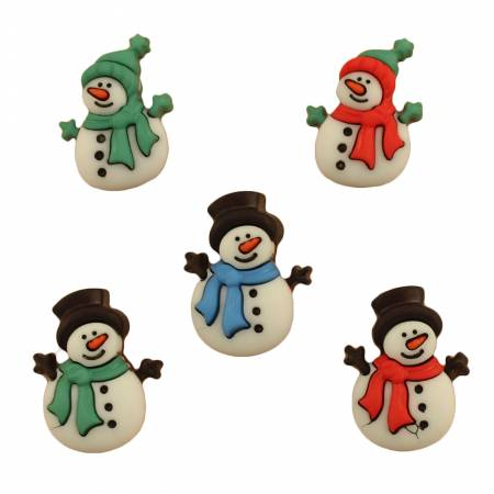 Button #4792 - Jolly Snowmen