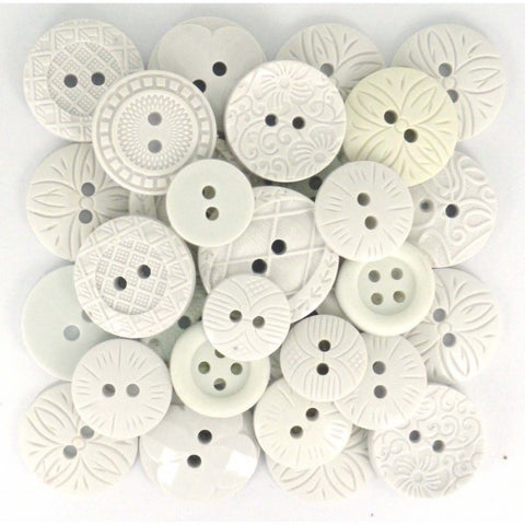 Button #53 - Color Me White