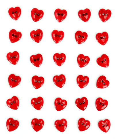 Button #5625 - Red Hot Hearts