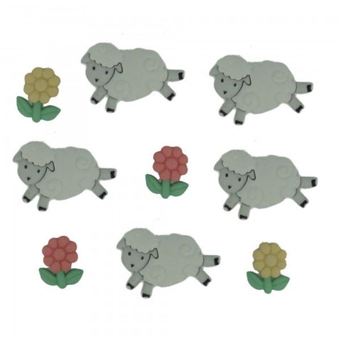 Button #5798 - Counting Sheep