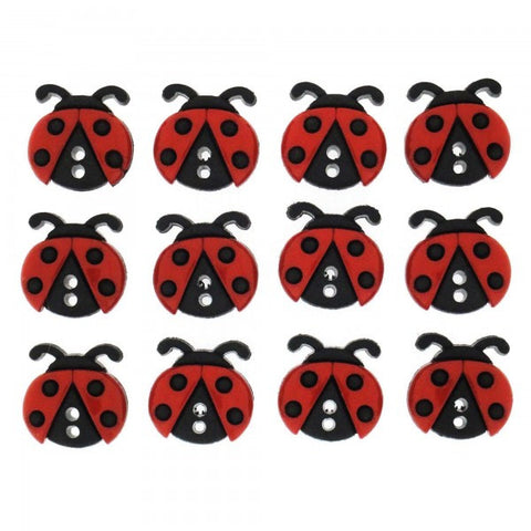 Button #6940 - Sew Cute Ladybugs