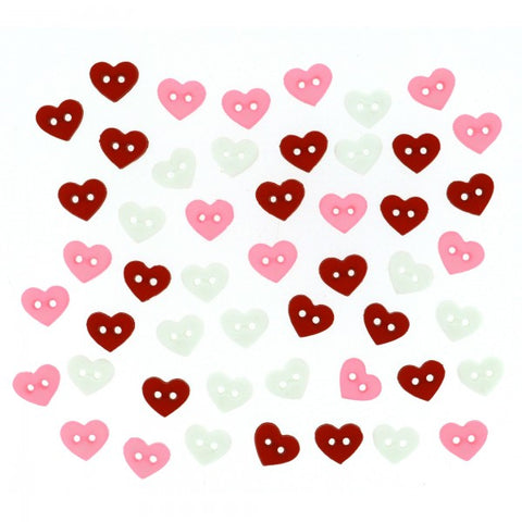 Button #8102 - Micro Valentine's Hearts